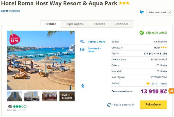 8784 - Egypt, Hurghada na 15 dní s all inclusive za 13910 Kč