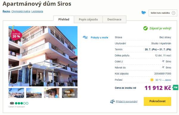 siros - Řecko o prázdninách na 12 dní letecky z Brna za 11912 Kč